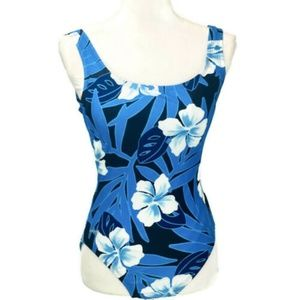 SPEEDO Women's ENVOLTURA One Piece Floral sz 8